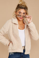 6 The Pearl Sherpa Crop Jacket at reddressboutique.com