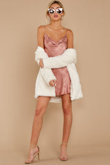 8 Made You Look Mauve Pink Satin Dress at reddress.com