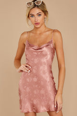 2 Made You Look Mauve Pink Satin Dress at reddress.com
