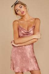 Made You Look Mauve Pink Satin Dress