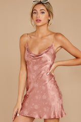 3 Made You Look Mauve Pink Satin Dress at reddress.com