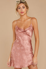 1 Made You Look Mauve Pink Satin Dress at reddress.com
