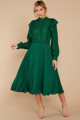 3 Not Without Love Green Midi Dress at reddress.com