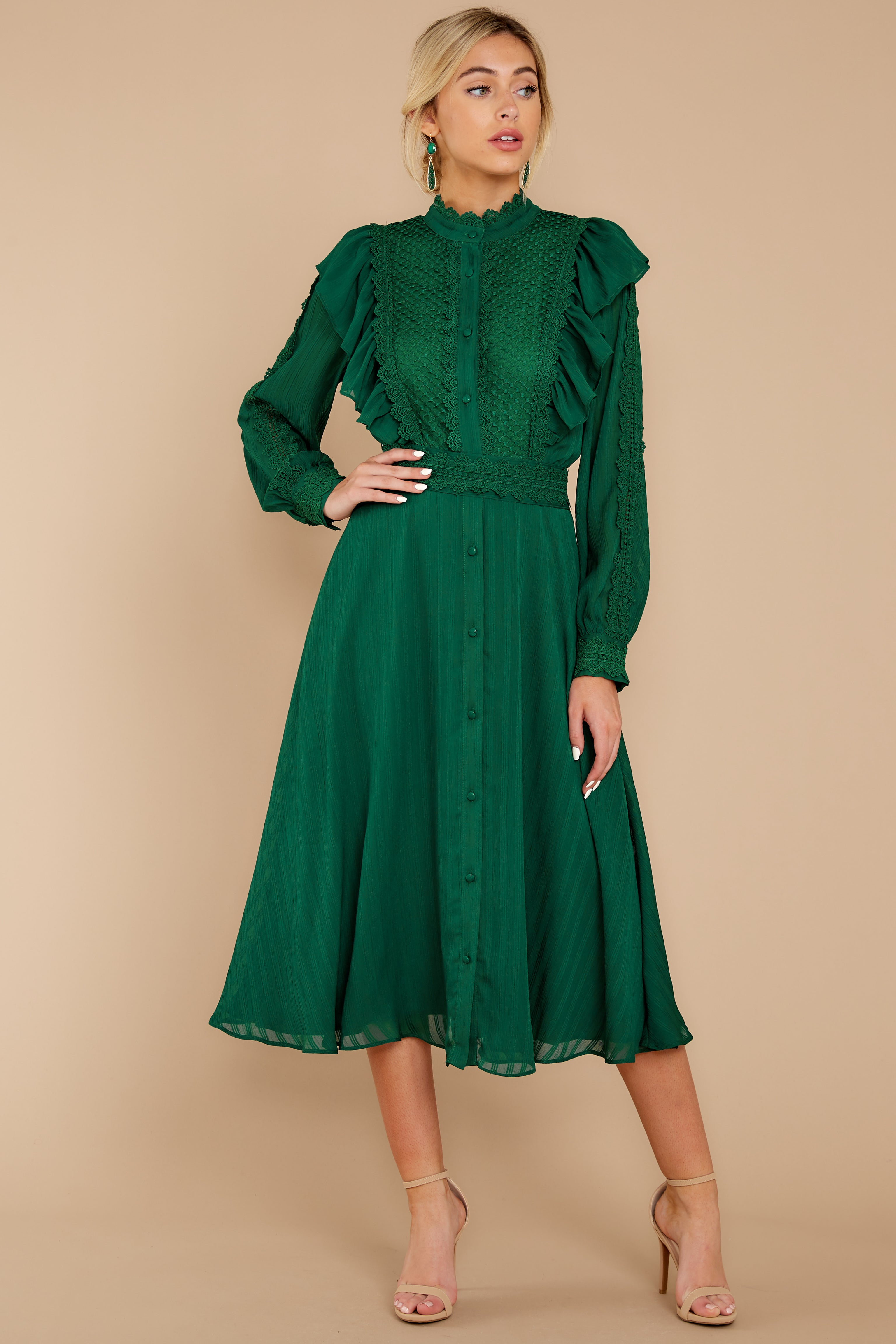 2 Not Without Love Green Midi Dress at reddress.com