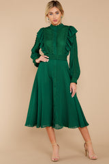 6 Not Without Love Green Midi Dress at reddress.com