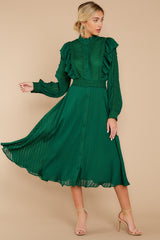1 Not Without Love Green Midi Dress at reddressboutique.com