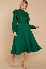 5 Not Without Love Green Midi Dress at reddress.com