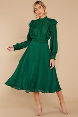 7 Not Without Love Green Midi Dress at reddress.com