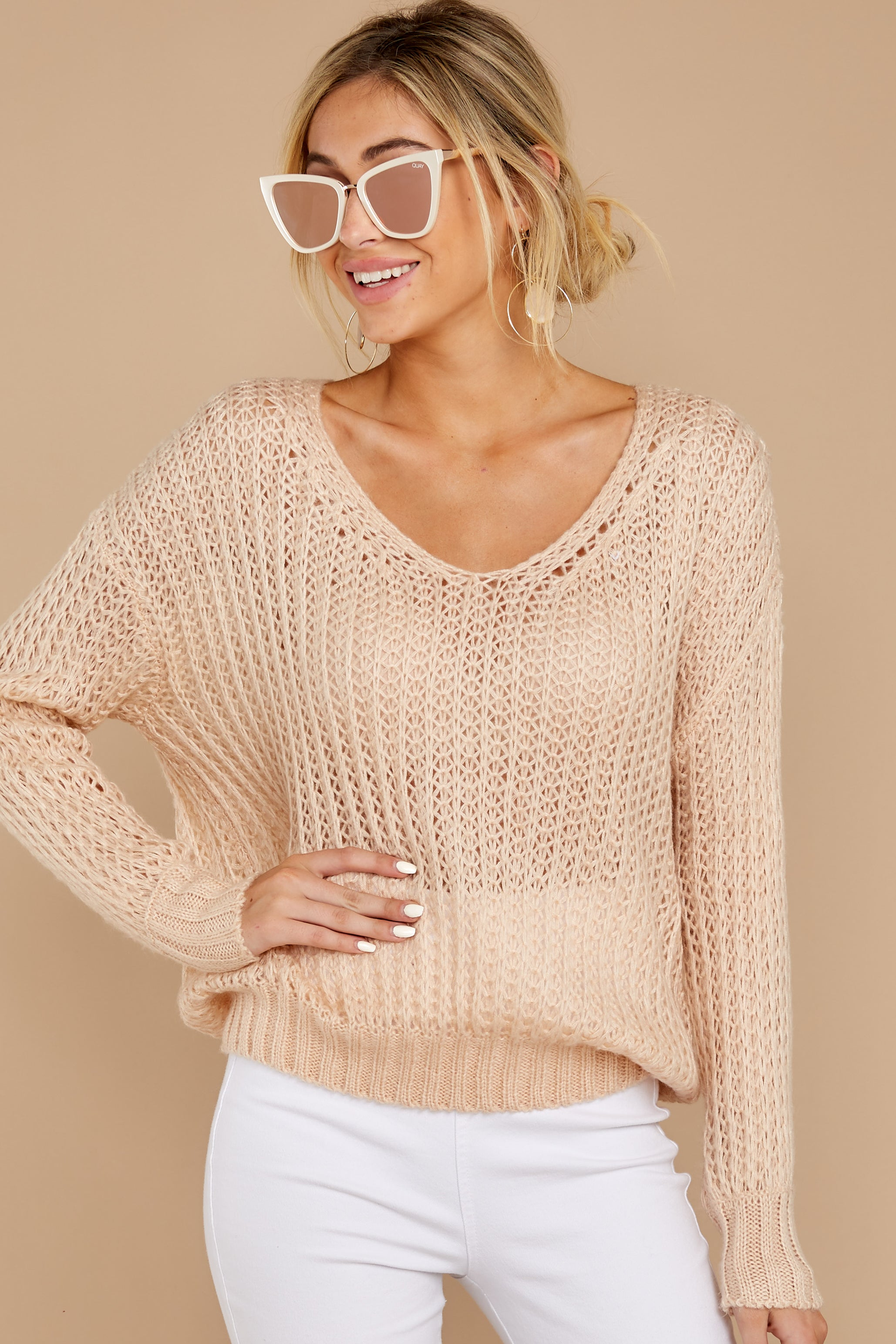 My Side Of Town Beige Sweater