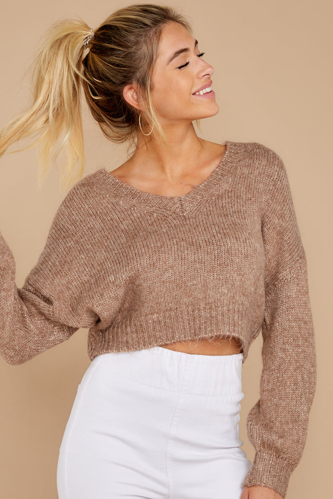 1 Know Your Options Oatmeal Sweater at reddressboutique.com