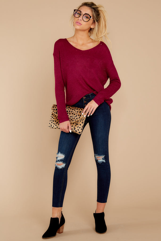 2 Do It Anyways Dark Wash Distressed Skinny Jeans at reddressboutique.com