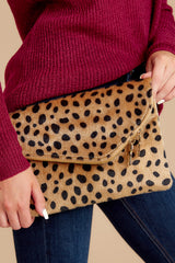 6 No New Tricks Cheetah Clutch at reddress.com