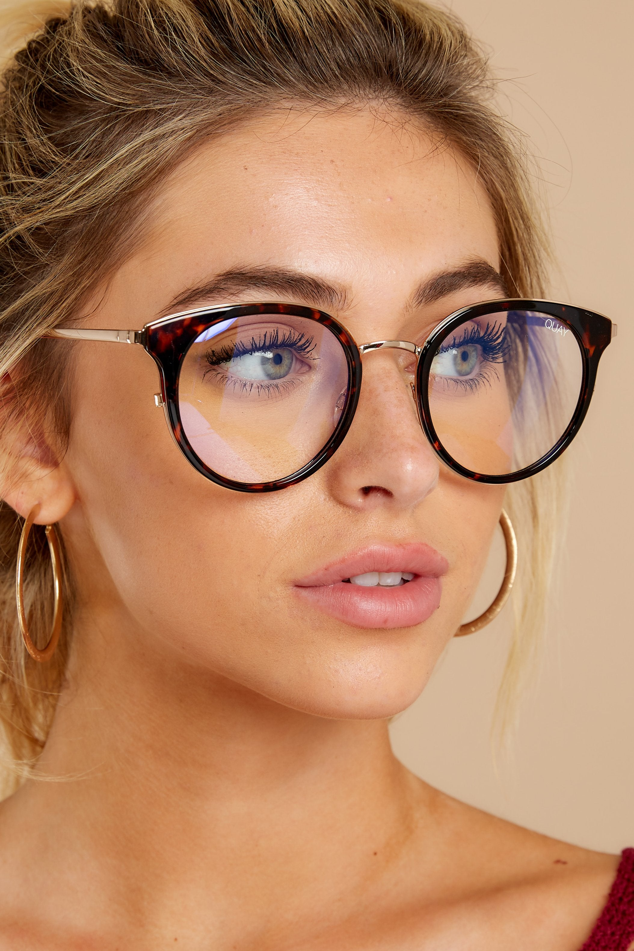 1 Cryptic Tortoise Clear Blue Light Glasses at reddressboutique.com