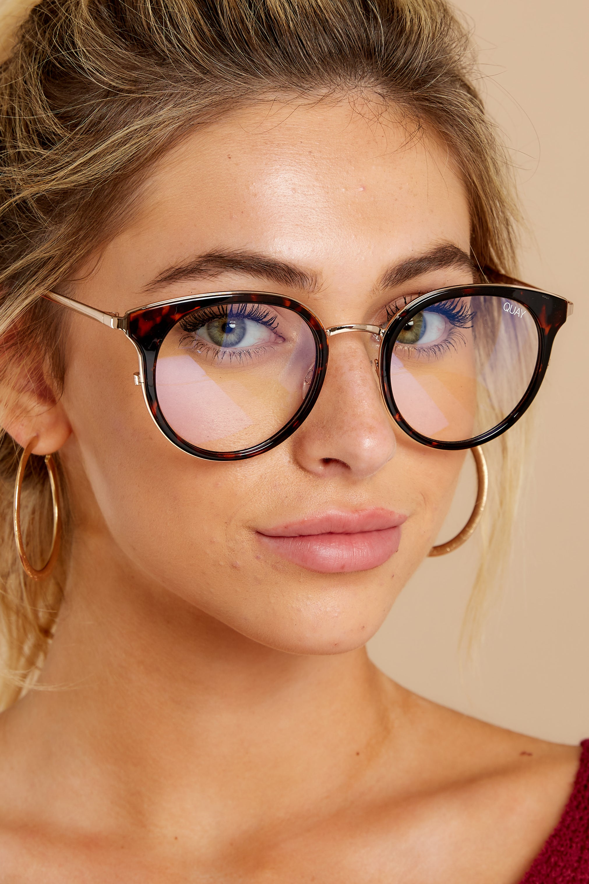2 Cryptic Tortoise Clear Blue Light Glasses at reddressboutique.com