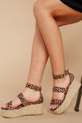 4 Fashionable Heights Cheetah Print Flatform Sandals at reddressboutique.com
