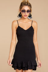 2 Stars Come Out Black Dress at reddressboutique.com