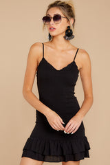 3 Stars Come Out Black Dress at reddressboutique.com