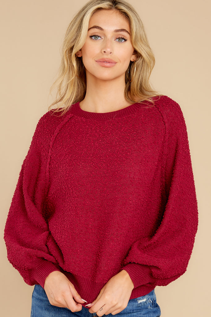 1 Catching Up Red Multi Knit Sweater at reddress.com