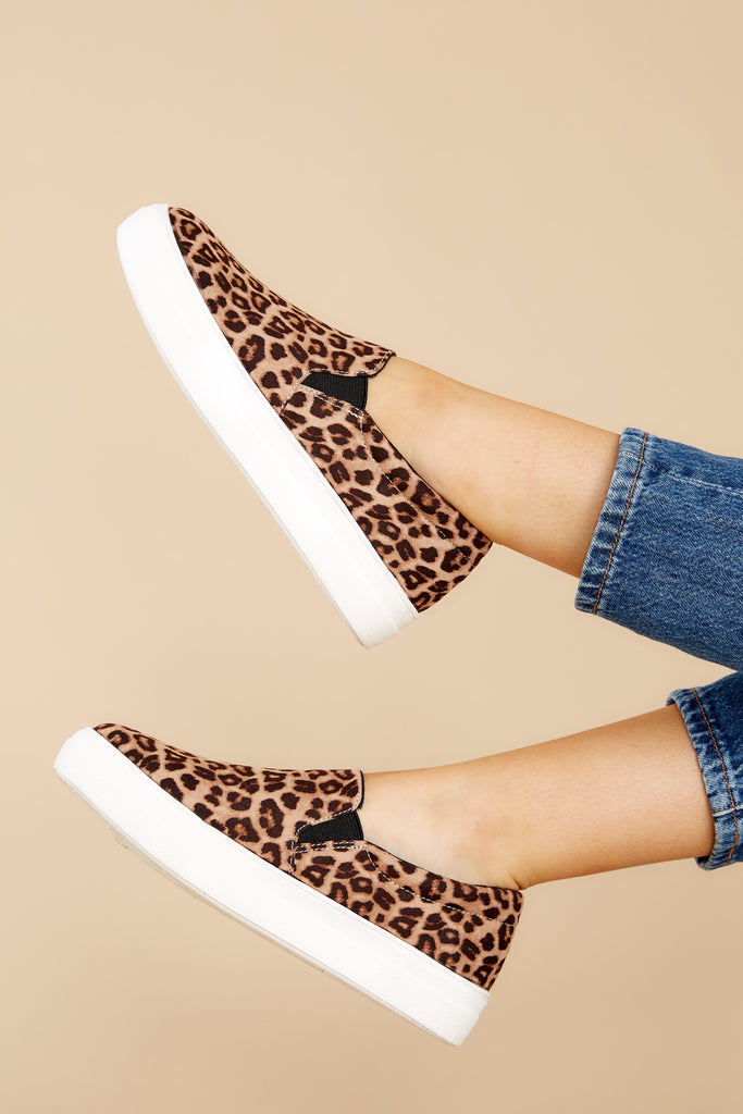 1 Go The Distance Leopard Print Slip On Sneakers at reddress.com