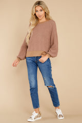 3 Feeling Carefree Mocha Sweater at reddress.com