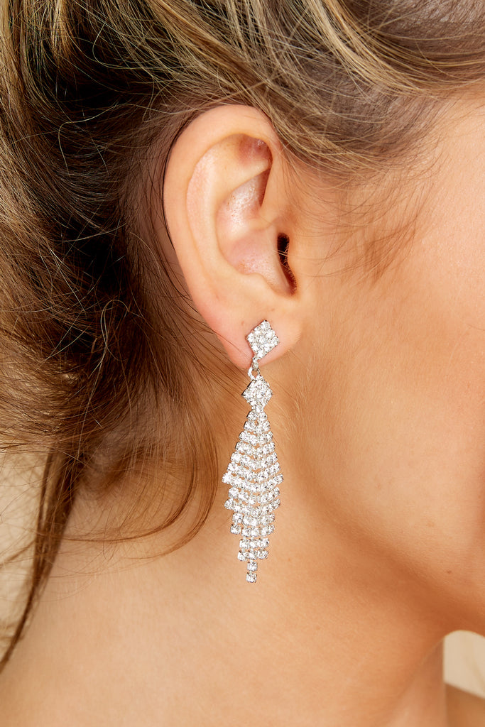1 New Level Silver Statement Earrings at reddress.com