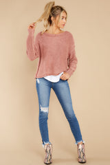 2 All Your Love Dusty Rose Sweater at reddress.com