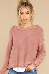 5 All Your Love Dusty Rose Sweater at reddress.com
