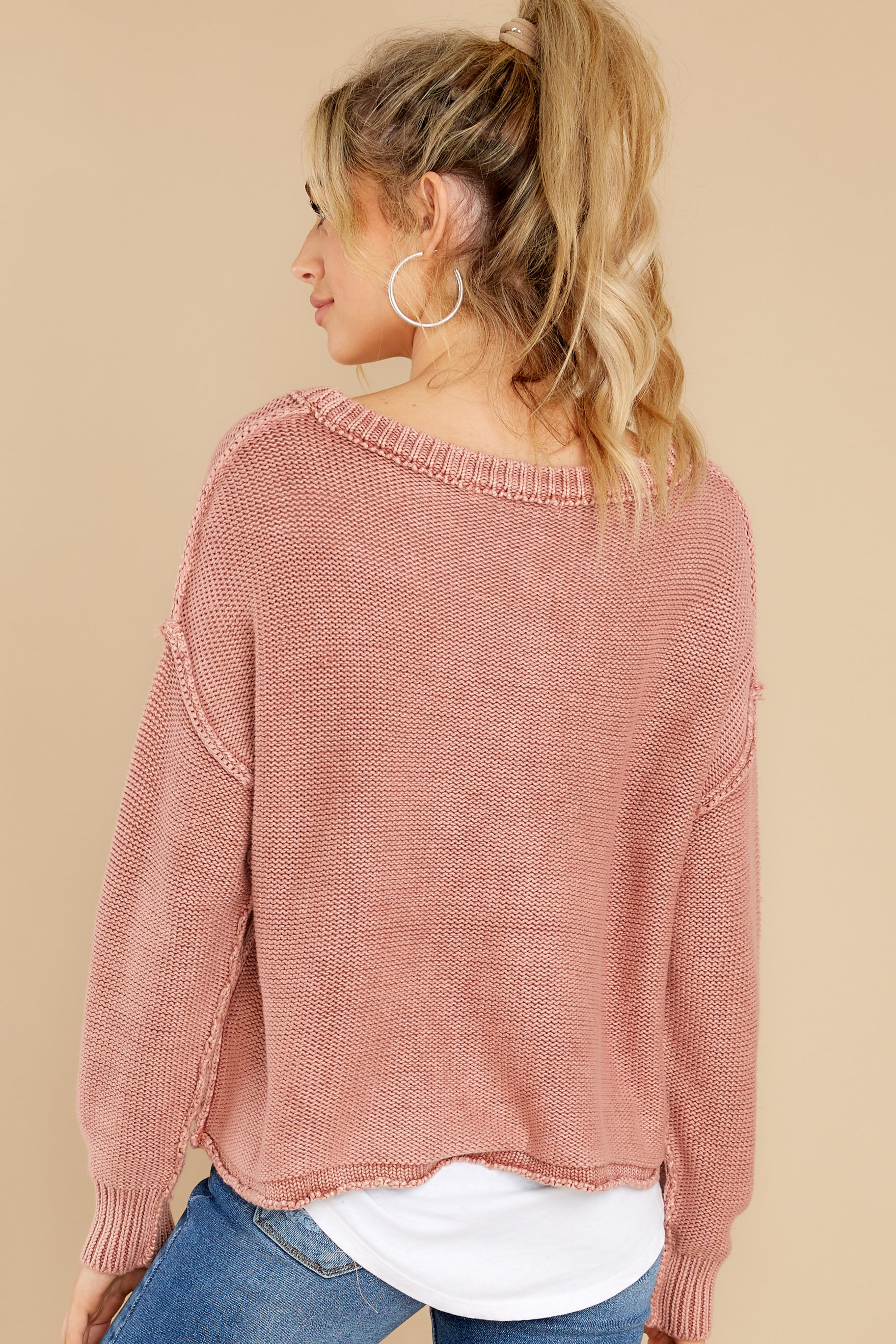 8 All Your Love Dusty Rose Sweater at reddress.com