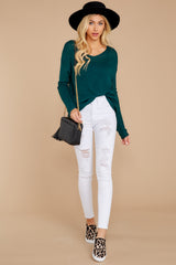1 Through The Window Hunter Green Sweater at reddressboutique.com