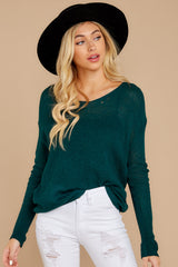 6 Through The Window Hunter Green Sweater at reddressboutique.com