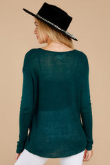 9  Through The Window Hunter Green Sweater at reddressboutique.com