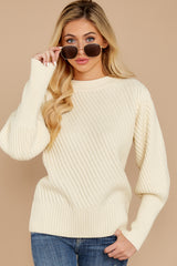 4 My Best Angle Ivory Sweater at reddressboutique.com