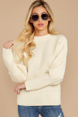 5 My Best Angle Ivory Sweater at reddressboutique.com