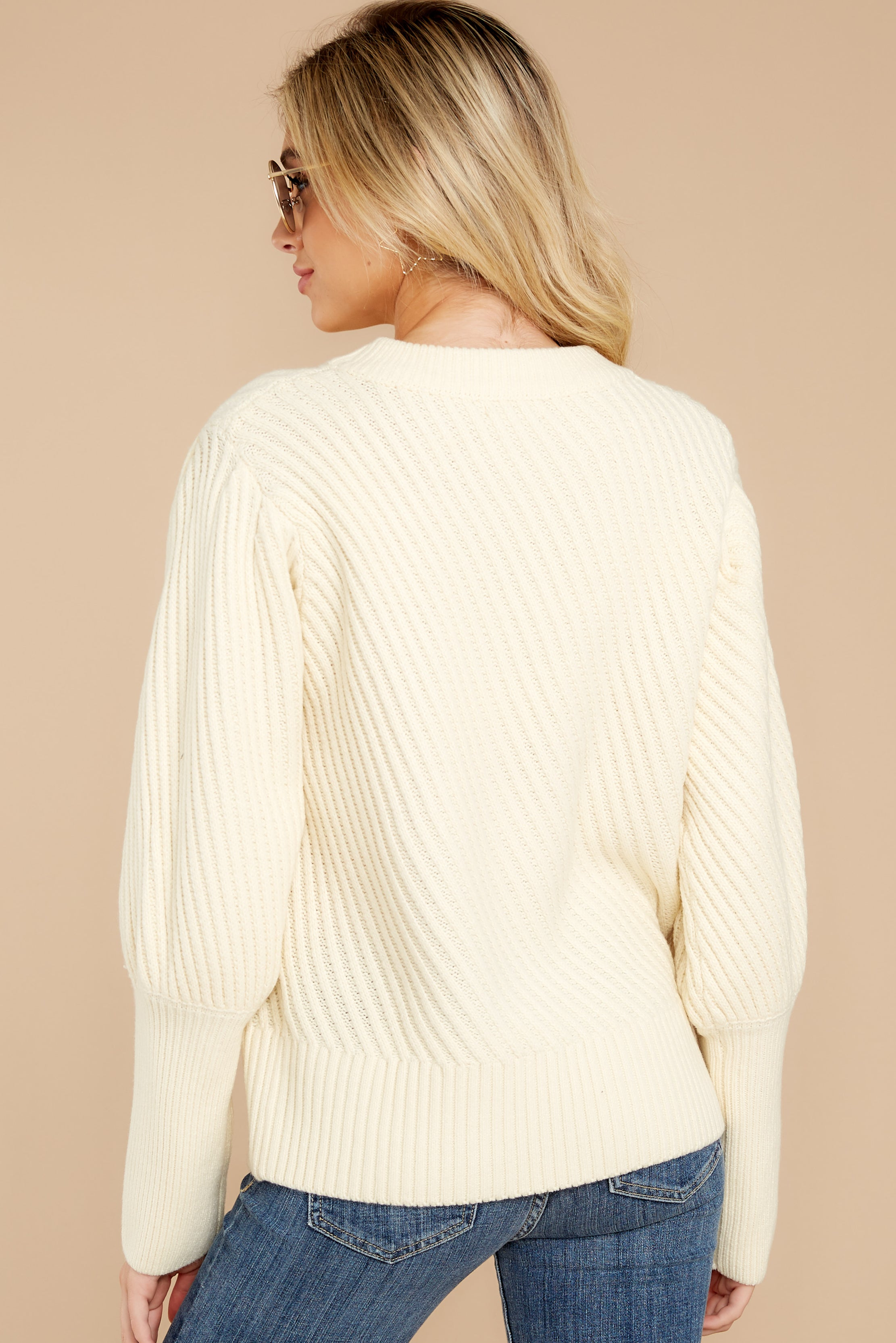 8 My Best Angle Ivory Sweater at reddressboutique.com