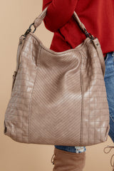 2 City Life Taupe Handbag at reddressboutique.com