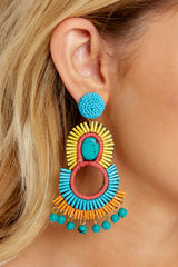 1 Playful Love Multi Statement Earrings at reddressboutique.com
