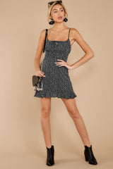 2 Charmed Of Course Black And White Print Dress at reddressboutique.com