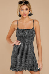 4 Charmed Of Course Black And White Print Dress at reddressboutique.com
