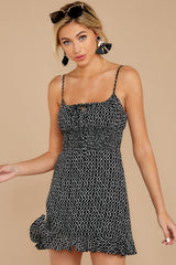 6 Charmed Of Course Black And White Print Dress at reddressboutique.com