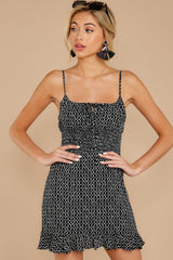 7 Charmed Of Course Black And White Print Dress at reddressboutique.com