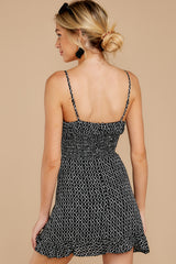 8 Charmed Of Course Black And White Print Dress at reddressboutique.com