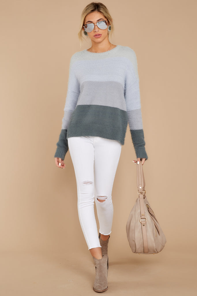 1 Better Off Taupe Multi Sweater at reddressboutique.com
