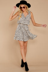 1 In A Major Way Ivory Cheetah Print Dress at reddressboutique.com