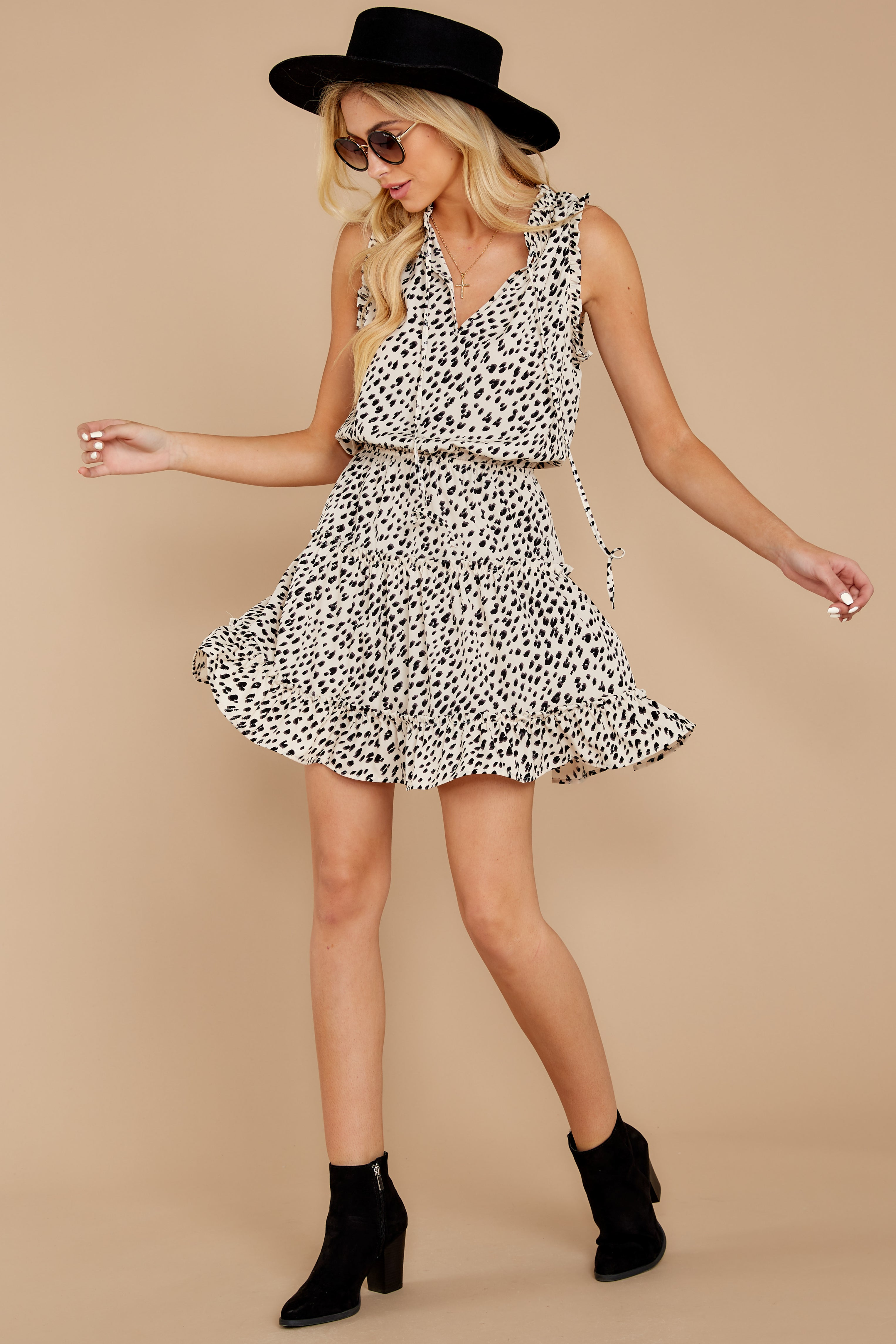 3 In A Major Way Ivory Cheetah Print Dress at reddressboutique.com