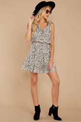 4 In A Major Way Ivory Cheetah Print Dress at reddressboutique.com