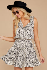 5 In A Major Way Ivory Cheetah Print Dress at reddressboutique.com