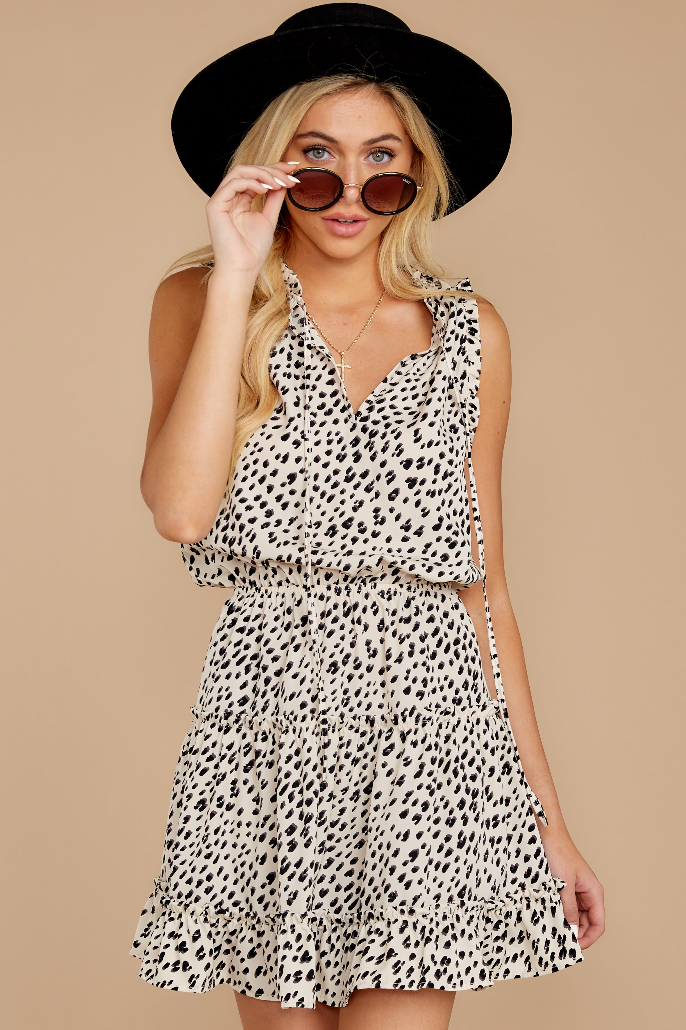 6 In A Major Way Ivory Cheetah Print Dress at reddressboutique.com
