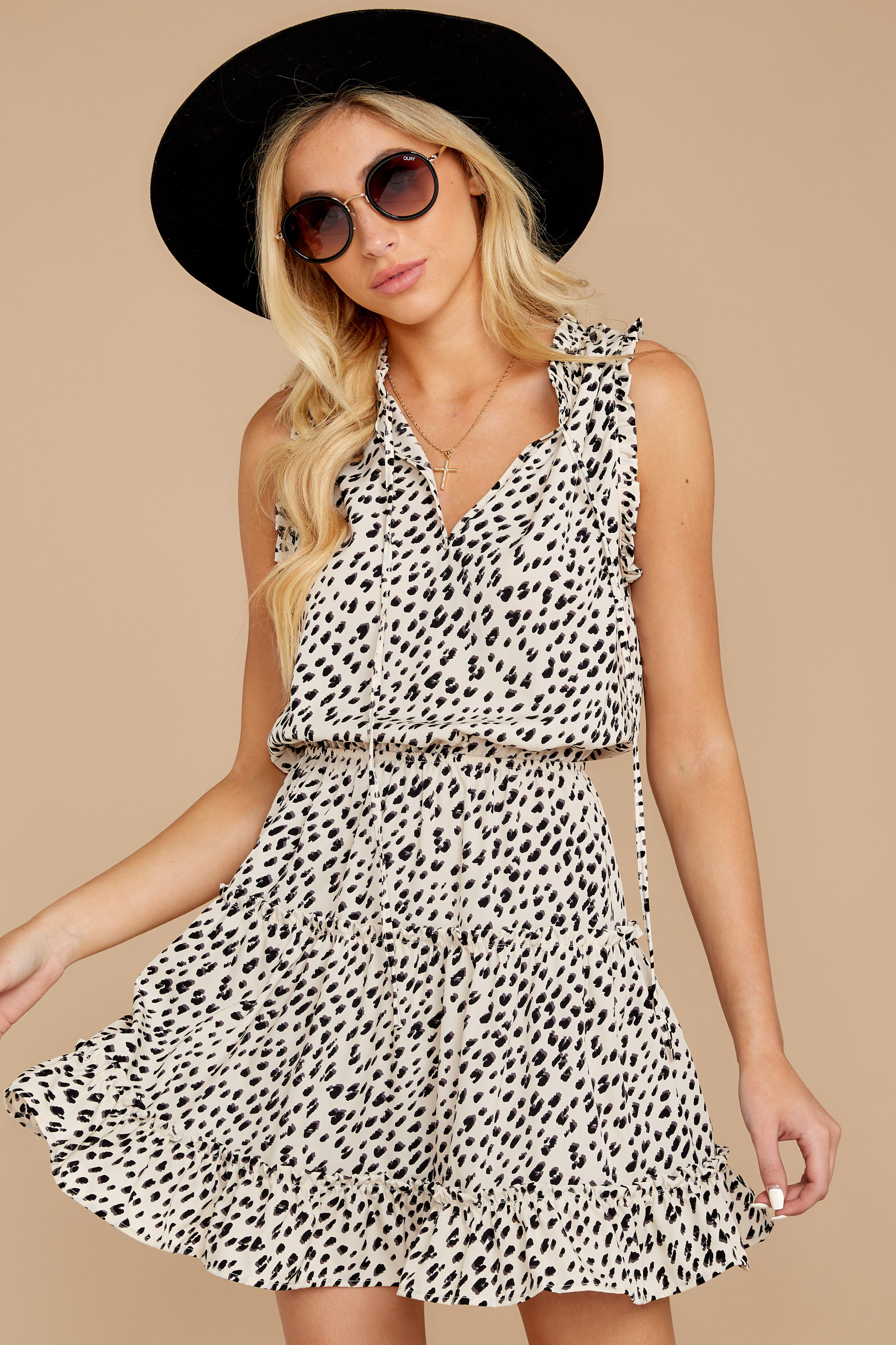 7 In A Major Way Ivory Cheetah Print Dress at reddressboutique.com