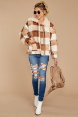 7 Before You Leave Brown Multi Plaid Jacket at reddress.com
