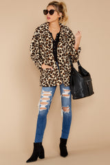 1 The Natural Leopard Sherpa Teddy Bear Coat at reddressboutique.com